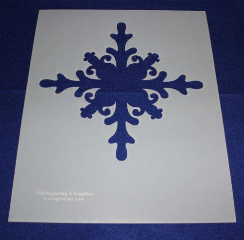 Extra Lg Snowflake Stencils Mylar 14 Mil Lg - Painting /Crafts/Templates