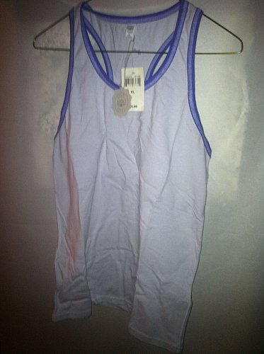 Lucky Brand 7WL0226 Women`s XL Race Back Lucky Lotus Top