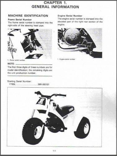 1984-1985 Yamaha YT60L Tri-Zinger Service Manual on a CD --- YT 60 YT60 L 60L