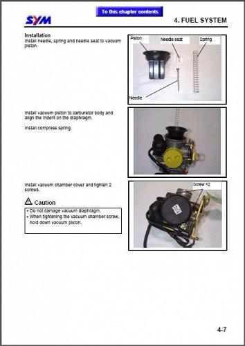 SYM Joyride 125 / 200i EVO - X'PRO RV125 / 200 EFi Scooter Service Manual on CD