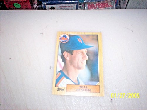 1987 Topps Traded Baseball BILL ALMON METS #T1 FREE SHIPPING