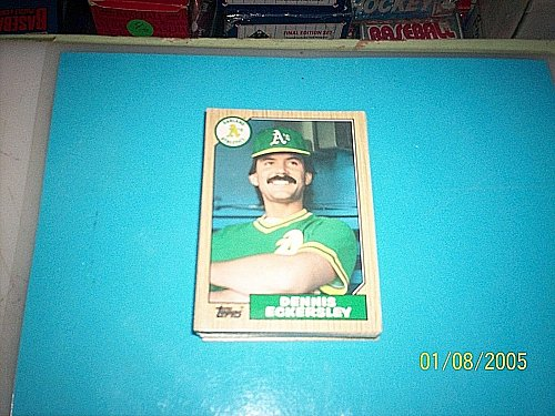 1987 Topps Traded Baseball DENNIS ECKERSLEY A'S #31T FREE SHIPPING