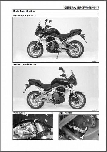 2007-2008-2009 Kawasaki Versys 650 Service Manual on a CD