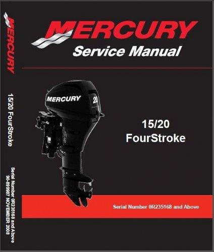 2008-2015 Mercury 15 / 20 FourStroke Outboard Motors Service Repair Manual CD
