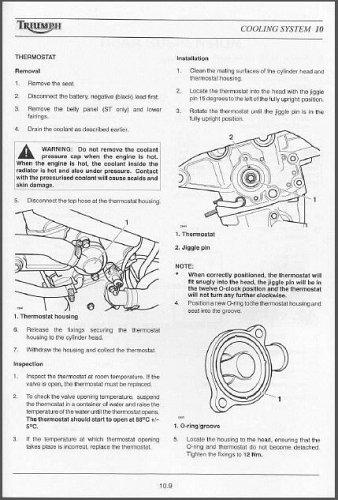 2002-2003-2004 Triumph Sprint ST / Sprint RS Service Manual on a CD