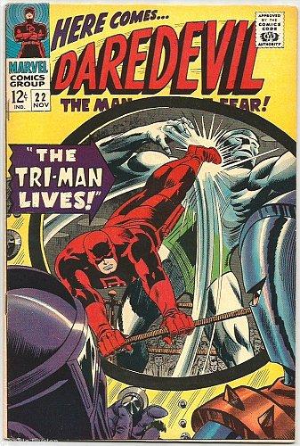 Daredevil #22 Gene Colan, Stan Lee, Ayres 1966 Marvel Comics 1st print & series