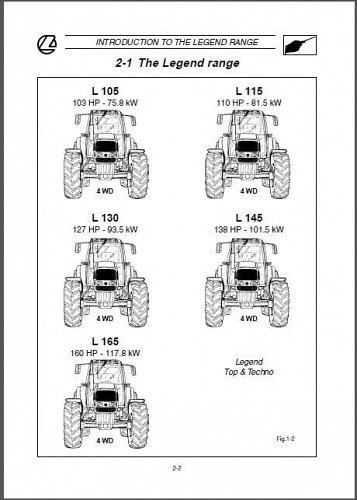 Landini Legend 105 115 130 145 165 Tractor Repair Service Workshop Manual CD