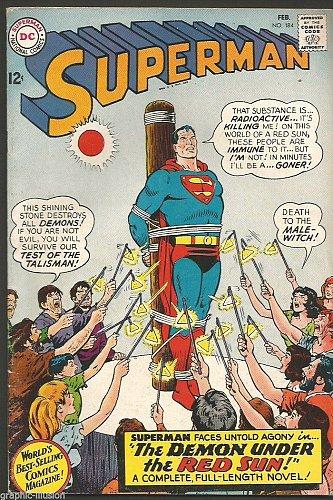 Superman #184 DC COMICS 1966 --1st print Fine/+ range