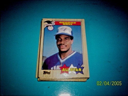 GEORGE BELL 1987 Topps #612 All Star HOF BLUE JAYS free shipping