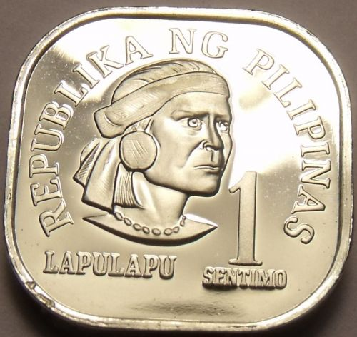 Philippines 1977 Sentimo Proof~Rare 4,822 Minted~Square Coin~Free Shipping