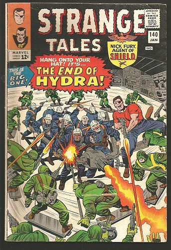Strange Tales #140 Dr. Strange: Ditko, Shield: Kirby/Heck1966 VG+ Stan Lee HYDRA
