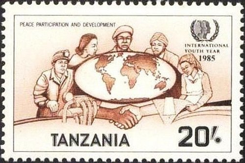 Tanzania 1v mnh Stamp Michel 291 1986 MNH World Map