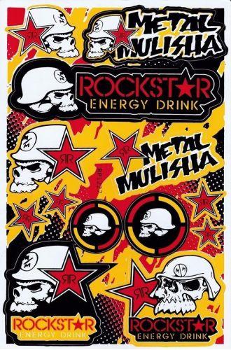 1 sheet New Rockstar Energy, Motocross Racing sticker Free shipping 03