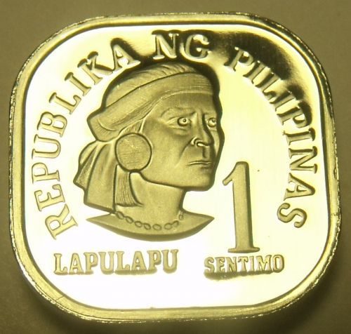 Philippines 1978 Sentimo Proof~Rare 4,872 Minted~Square Coin~Free Shipping