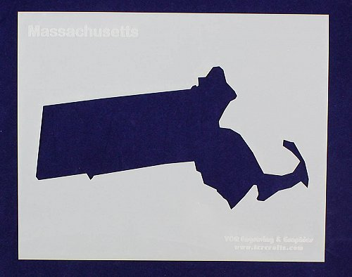 """State of Massachusetts Stencil 8"""" x 10"""" -14 mil Mylar Painting/Crafts"""
