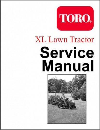 Toro XL Lawn & Garden Tractor Repair Service Manual CD -- 12-38 16-38 15-44 XHL