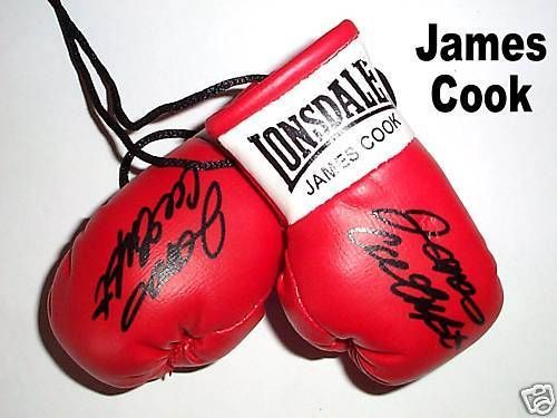 Autographed Mini Boxing Gloves James Cook