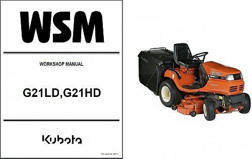 Kubota G21LD G21HD Lawn Garden Tractor Service Repair Manual CD - G 21 G21 LD HD