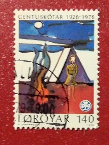 Faroe Islands used stamp 1978 The 50th Anniversary of the Y.W.C.A. Girl Scouts