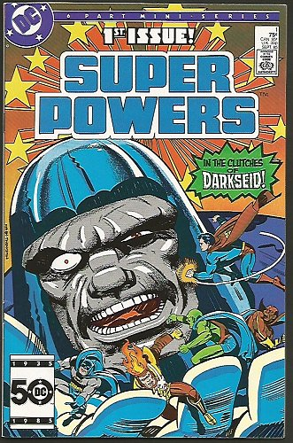 SUPER POWERS #1 DARKSEID Jack Kirby DC COMICS 1985 Many JLA Characters