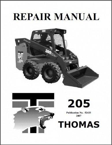 Thomas 205 Skid Steer Loader Service Repair Workshop Manual CD