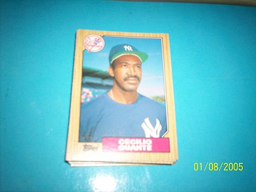 1987 Topps Traded Baseball CECILIO GUANTE YANKEES #40T FREE SHIPPING
