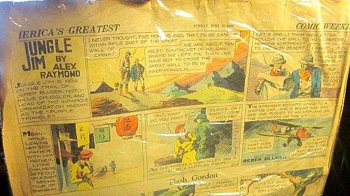 Flash Gordon Jungle Jim June 14, 1936 Alex Raymond art Sunday Newspaper Strips