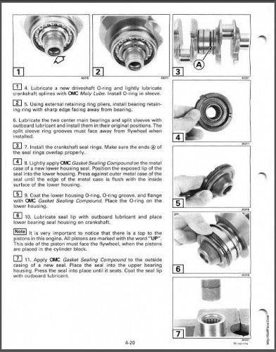 Johnson 25 / 35 HP 3-Cylinder 2-Cycle Outboard Motors Service Manual on a CD