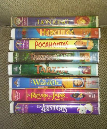 (8) Disney VHS Movies