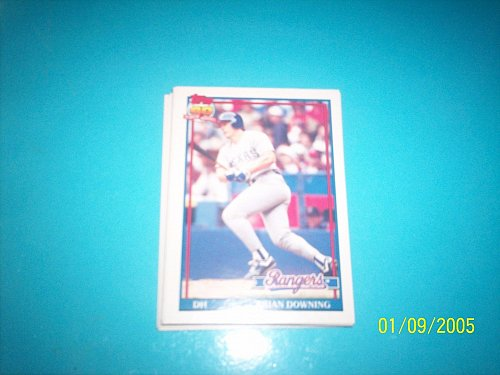 1991 Topps Traded brian downing rangers #33T mint free ship
