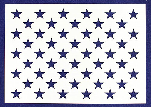 "US G Spec 9.50"" x 13.41"" -Star Field Painting/Crafts/Stencil/Template"