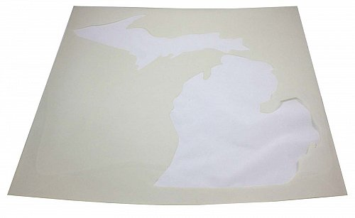 "State of Michigan Stencil Mylar 14 Mil 19"" H x 17.5""W - Paint /Crafts/ Template"
