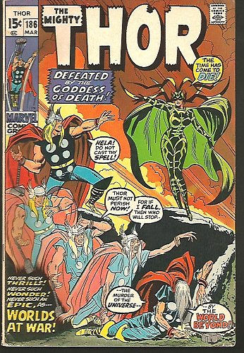 THOR #186 Marvel Comics March 1971 John Buscema, Joe Sinnott, Stan Lee HELA Fine