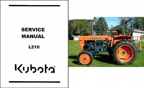 Kubota L210 ( L 210 ) Tractor WSM Service Manual on a CD