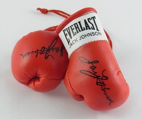 Autographed Mini Boxing Gloves Jack Johnson