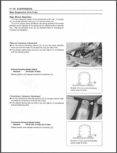 1992-1993 Kawasaki KX125 / KX250 Service Repair Manual on a CD - KX 250 125