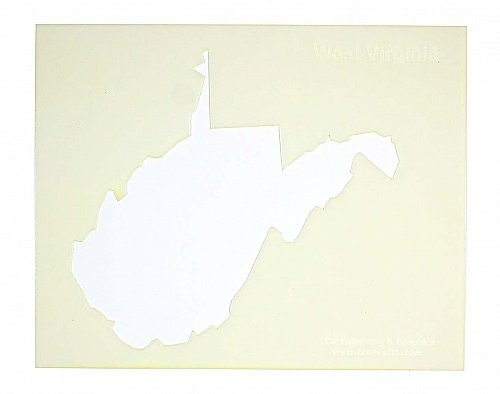 State of West Virginia Stencil -14 mil Mylar Painting/Crafts