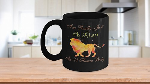 I'm Really Just A Lion Trapped In A Human Body Coffee Mug