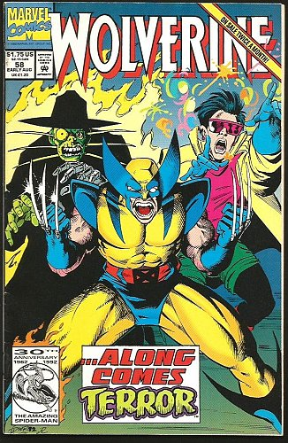 WOLVERINE #58 Marvel Comics 1992 Terrific 1st long series