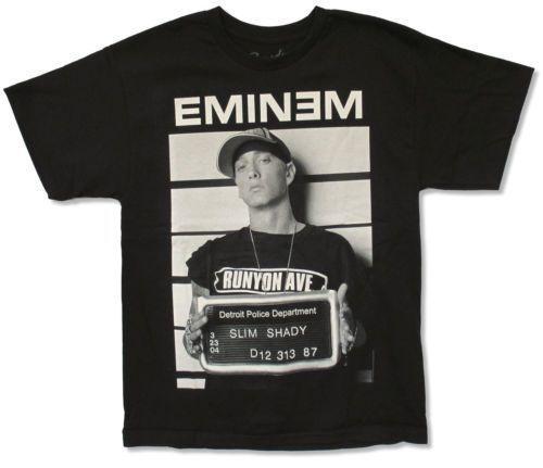 Eminem concert shirt t shirt mugshot wanted, pre owned