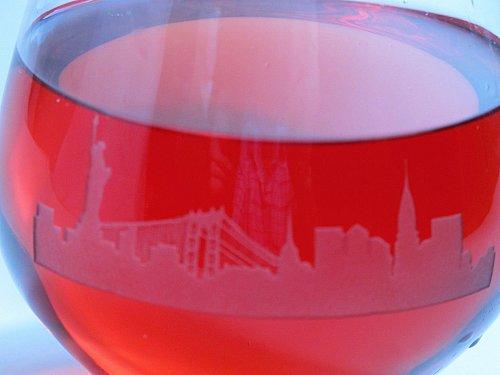 NY Skyline Lenox Simply red Tumiler glass 4 pieces