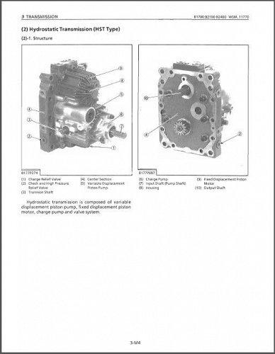 Kubota B1700 B2100 B2400 ( HSD - D ) Compact Tractor WSM Service Manual on a CD