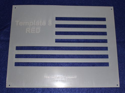 Flag in 3 Parts -Mylar 14 Mil US Flag Stencils Painting/Craft/Stencil/Template