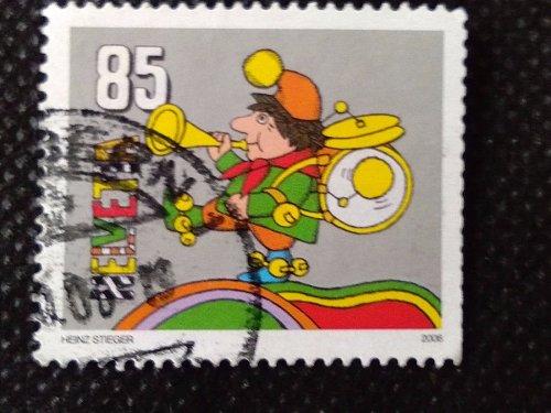 "Switzerland 1V USED STAMP 2006 Mi1969 Special Children's puppet ""Kasperli"""
