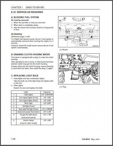 Kioti DK651 DK751 DK801 DK901 Tractor Repair Service Manual CD - DK 651 751 801