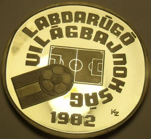 Hungary 1981 500 Forint Silver Proof~World Football Championship~Free Shipping