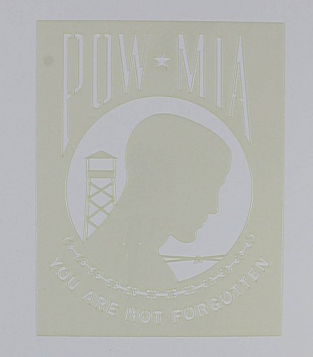 """POW-MIA Flag 9"""" x 11.5"""" -Painting/Crafts/Stencil/Template"""