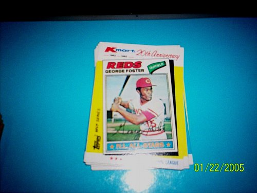 GEORGE FOSTER REDS 1982 TOPPS KMART 20TH ANNIVERSARY #32 OF 44