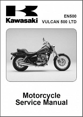 1996-2008 Kawasaki Vulcan 500 LTD ( EN500 ) Service Manual on a CD