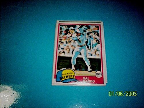 1981 Topps BASEBALL CARD OF SAL BANDO #623 MINT FREE SHIPPING